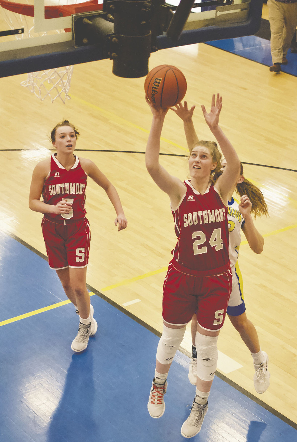 Belle Miller scored 12 points in the Mounties' win over Crawfordsville.