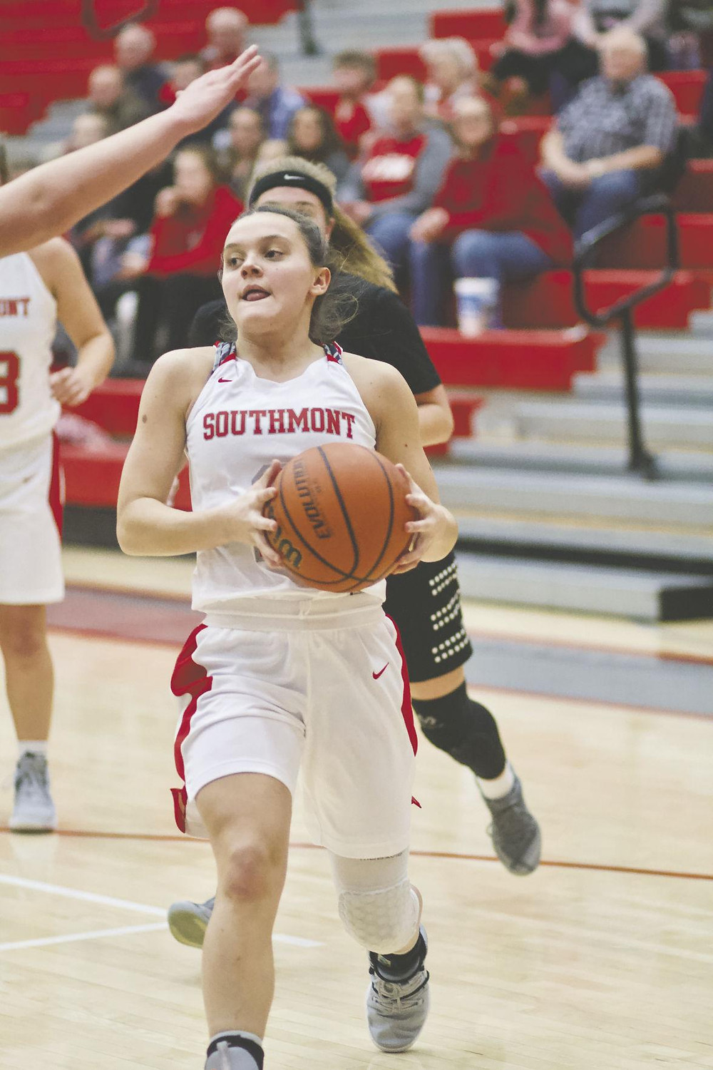 Southmont senior Hailey France looks to score for the Mounties.