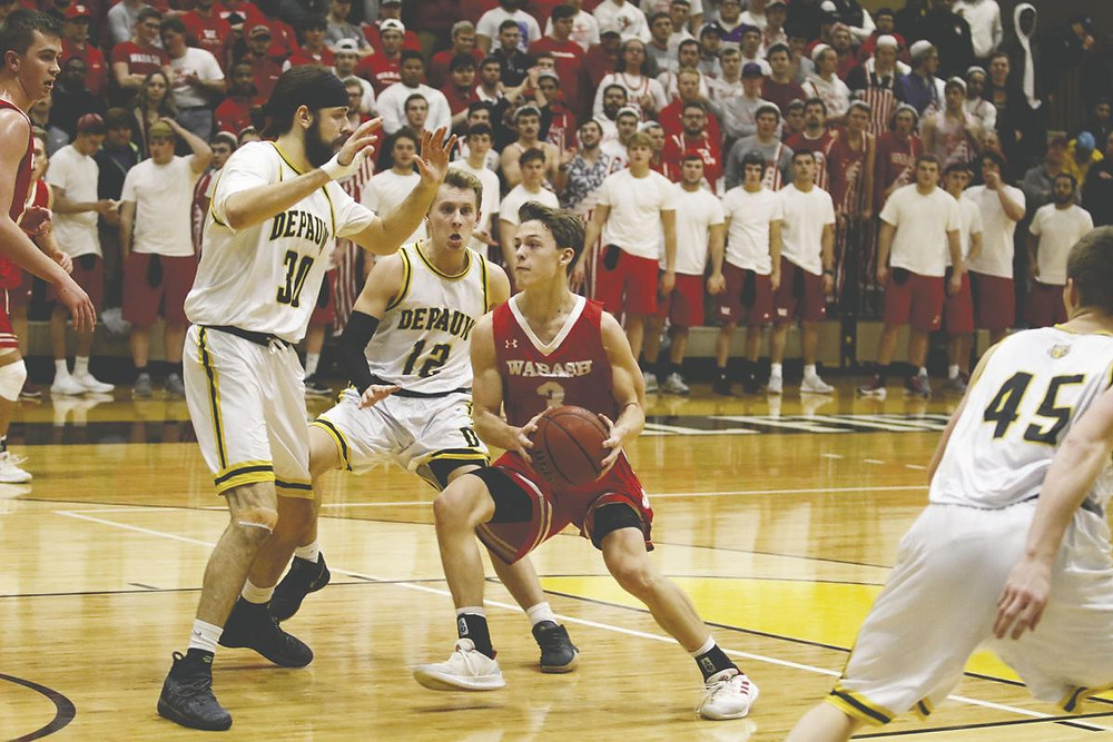 Wabash sophomore Jack Davidson eclipsed the 1,000-point mark in the Little Giants 94-79 loss at DePauw on Wednesday.