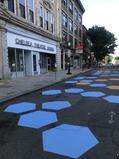 Winnisimmet Street mural in progress