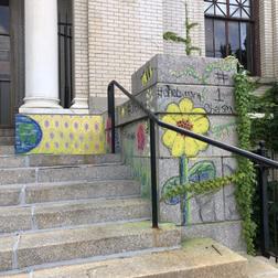 Aliyah Saldana's mural at the Chelsea Public Library