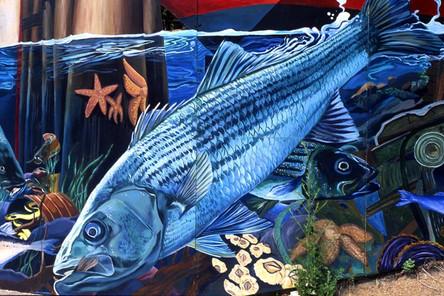 Mystic River Mural, Mystic Ave, Somerville