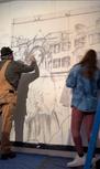 Heritage mural in process