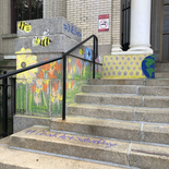 Chelsea Public Library receives a chalk mural
