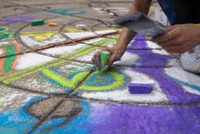 Detail of chalk art