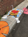 Local artist Max Pro created this bee design