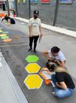 Roadway mural painting