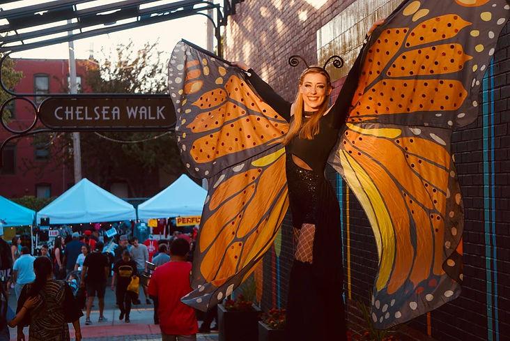 butterfly on chelsea walk  by Abeo Chris