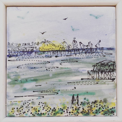 Palace Pier Framed Picture Tile