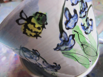 Detail of bluebell cup
