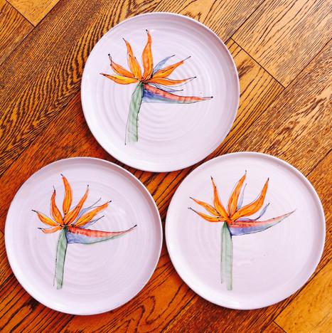 Bird of Paradise plates