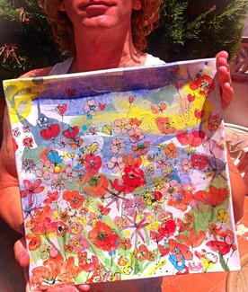 Large Floral Platter