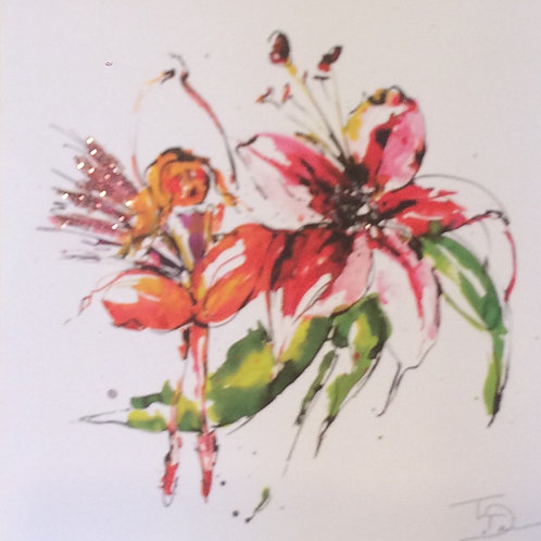 'Blossom' Glittered Greeting Card