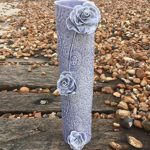 Lavender Pocelain vase