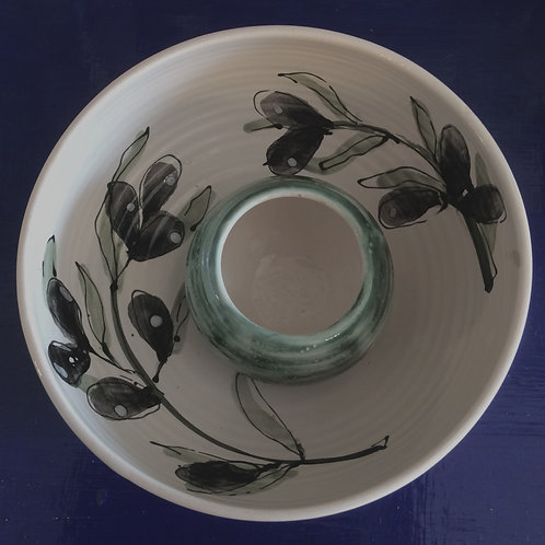 Olive Bowl with Pip Bowl