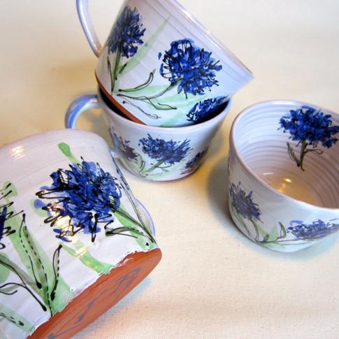 Cornflower cups
