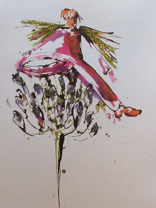 'Balance' Glittered Greeting Card