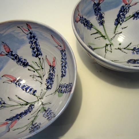 Lavender bowls
