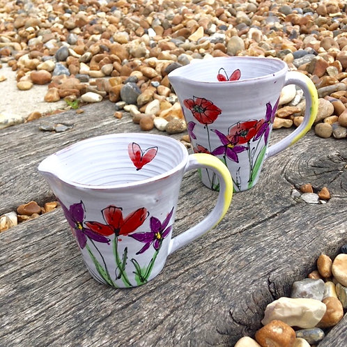 Small Poppy and Violet Jug