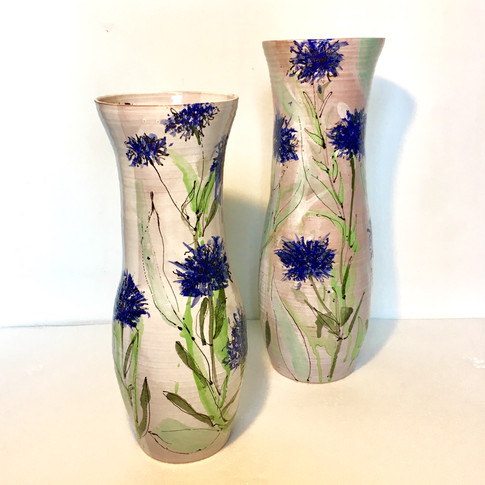 Cornflower Tall Vases