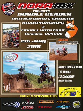 Nora Mx Rd6 & Rd3 of both the ACU British Quads & Sidecarcross Championship - Foxhills 1st J