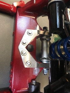 STAINLESS REAR CHASSIS DRAG LINK MOUNT SUPPORT