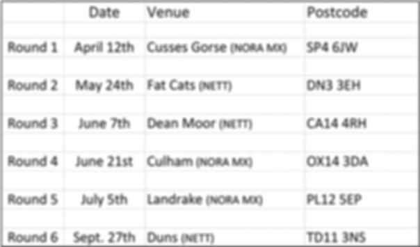 British Dates 2020 British 2020 Dates On