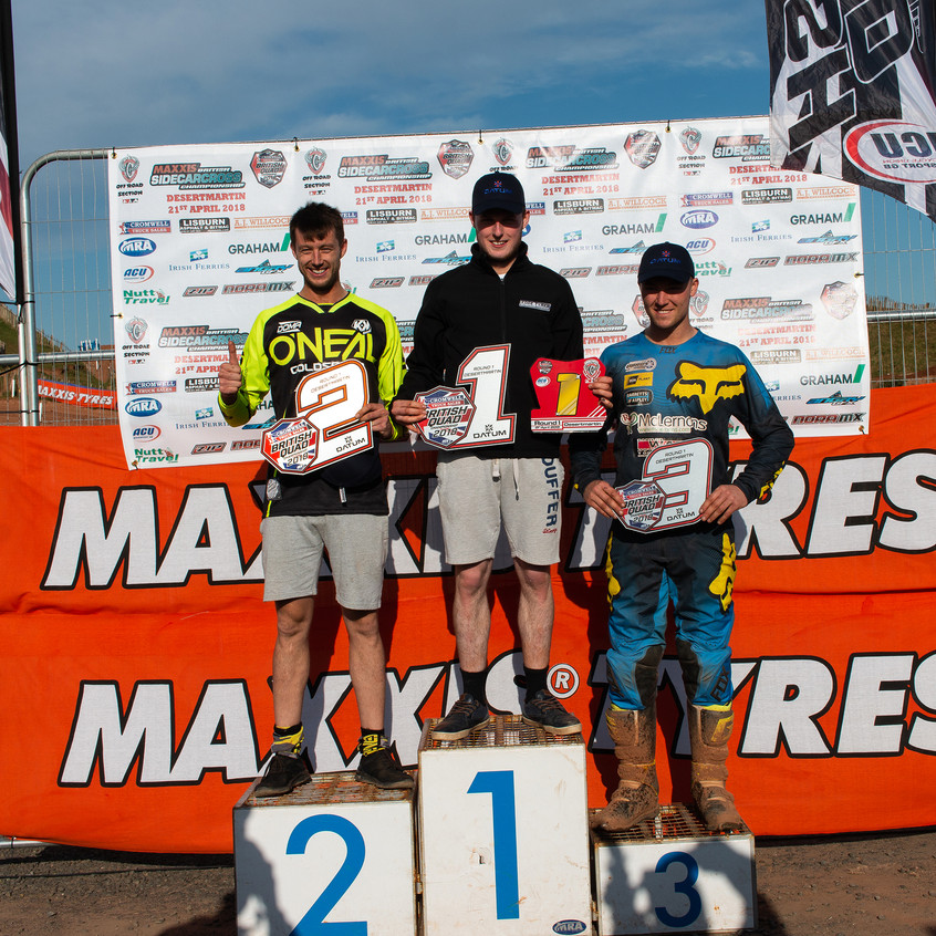 Rd 1 Podium, Rogers, Holmes, McLernon