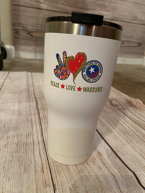 Peace-Love-Warriors Rtic (30 oz)