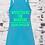 Thumbnail: Women's Tank Aqua w/ Metallic