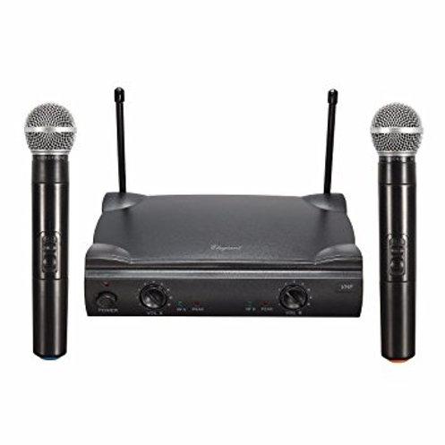 Professional Dual VHF Handheld Wireless Microphone Mic System Kareoke Cordless
