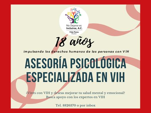 Asesoría psicológica especializada en VIH
