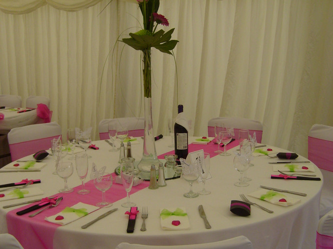 Marquee Wedding 2 - Gingham caterers