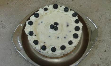 Blueberry Cream Gateau