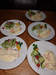 Salmon with Vermouth Butter Sauce