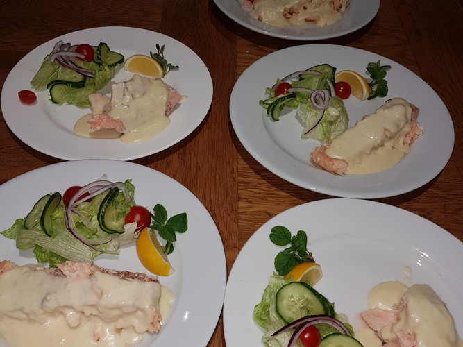 Salmon and Vermouth Butter Sauce