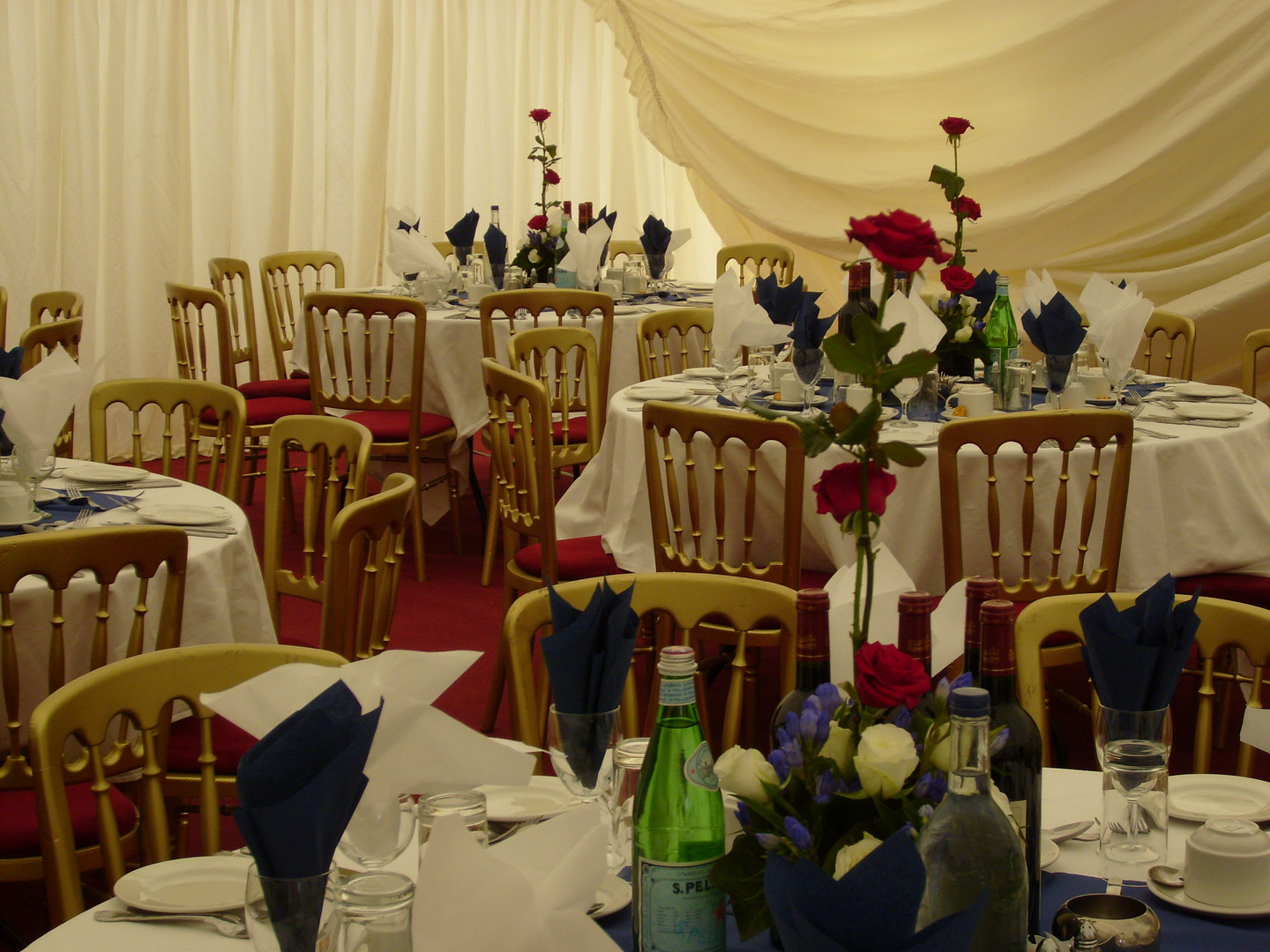 Marquee Themed Event Red White and Blue