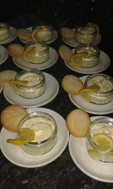 Lemon Mousse and Shortbread Biscuits