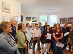 Ausstellungseröffnung Querbeet 5 in Bremen.
