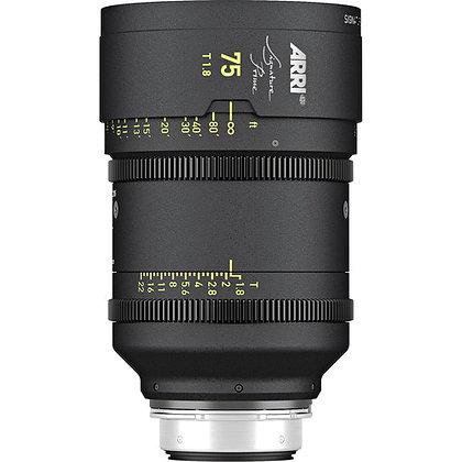Arri Signature Prime 75mm T1.8 FF Prime Lens PL Rental
