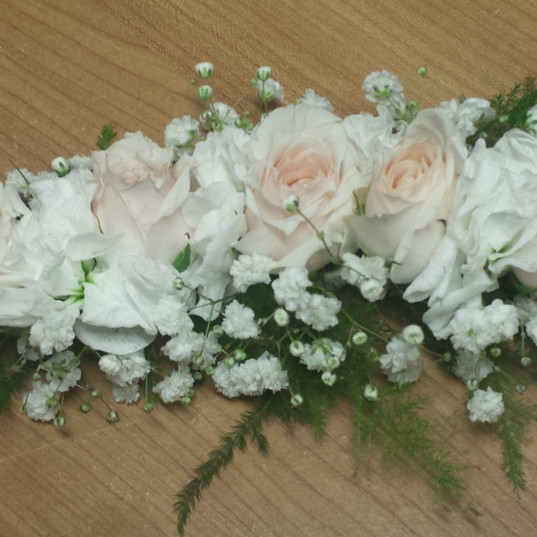 Baby's Breath and Ivory Sweetheart Rose