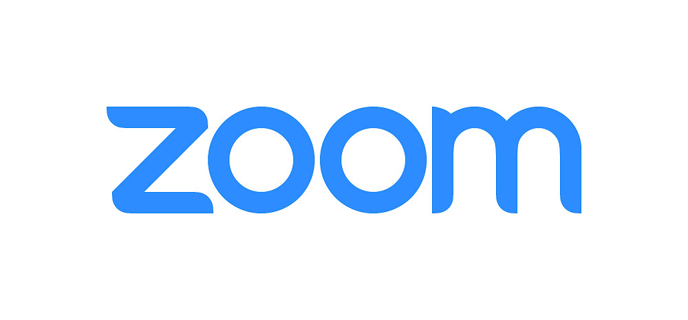 Zoom Logo Blue and White