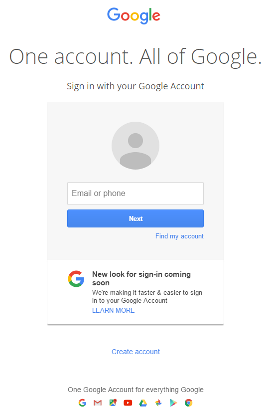 Old Google Sign-In | Tech | hartleyprodictions.uk
