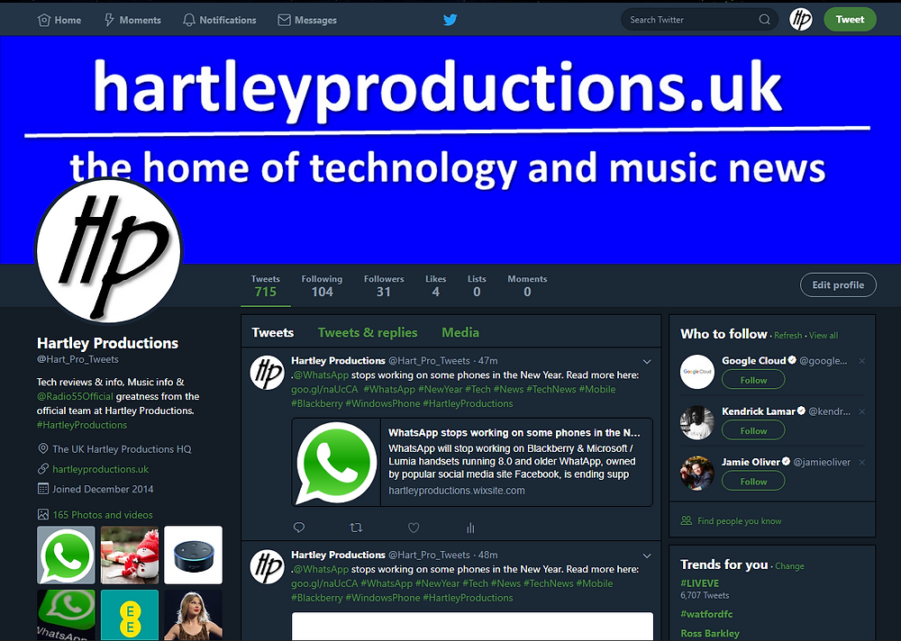 @Hart_Pro_Tweets #HartleyProductions Twitter | Follow us | hartleyproductions.uk