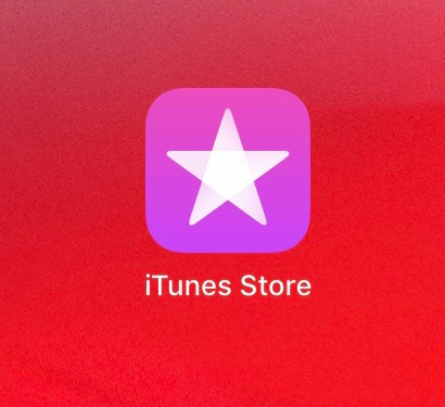 iTunes Store app with logo