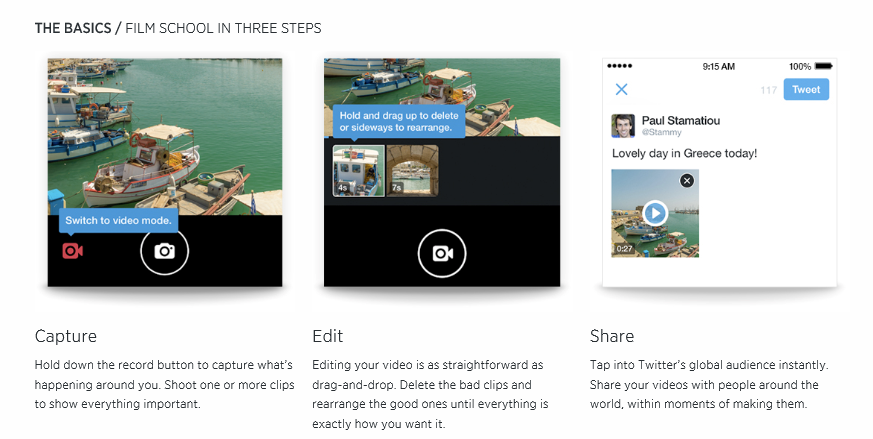 Shoot with 3 simple steps using Twitter Video!