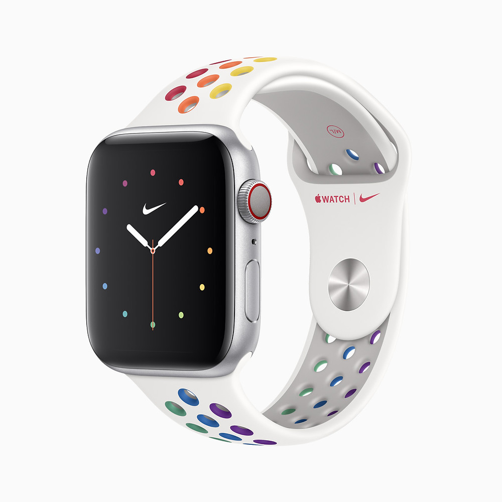 Apple Watch Series 5 with Nike Sport Band Pride Edition