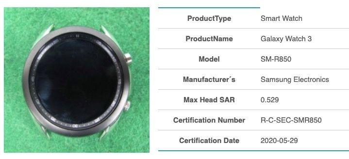 Galaxy Watch 3 SM-R850 - (via MySmartPrice)