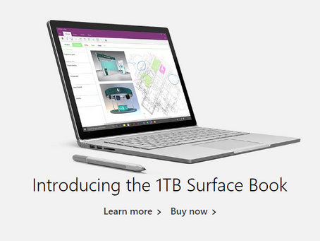 Want more memory? Get this 1TB Surface Book from Microsoft