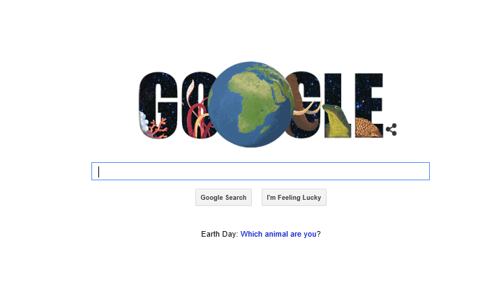 Google's Earth Day Doodle